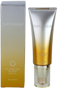 Missha Super Aqua Cell Renew Snail crema BB cu extract de melc 1
