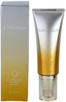 Missha Super Aqua Cell Renew Snail ББ крем с екстракт от охлюви 1