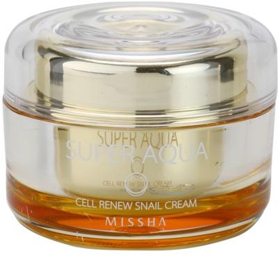 Missha Super Aqua Cell Renew Snail crema nutritiva con extracto de baba de caracol