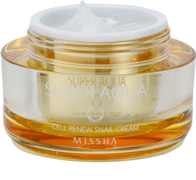 Missha Super Aqua Cell Renew Snail nährende Crem mit Snail Extract 1