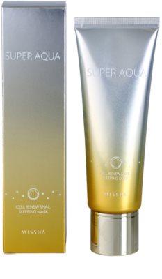 Missha Super Aqua Cell Renew Snail нощна маска с екстракт от охлюви 1
