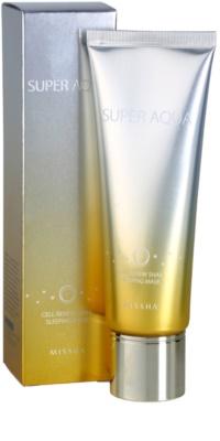 Missha Super Aqua Cell Renew Snail нощна маска с екстракт от охлюви 2