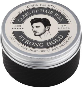 Missha For Men Class Up Hair Wax cera de pelo fijación fuerte