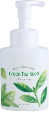 Missha Green Tea Seed demachiant hidratant sub forma de spumă