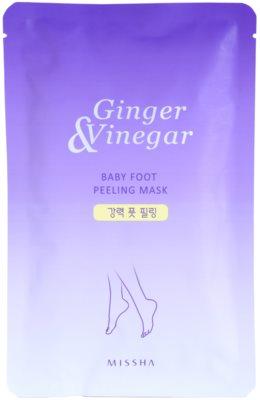 Missha Ginger & Vinegar mascarilla exfoliante para pies