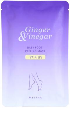 Missha Ginger & Vinegar peelingová maska na nohy