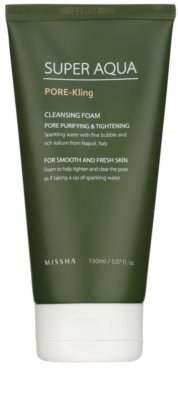 Missha Super Aqua Pore - Kling pianka oczyszczająca na rozszerzone pory