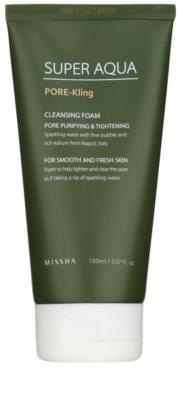 Missha Super Aqua Pore - Kling Reinigungsschaum vergrößerte Poren