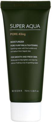 Missha Super Aqua Pore - Kling feuchtigkeitsspendende Emulsion für das Gesicht vergrößerte Poren