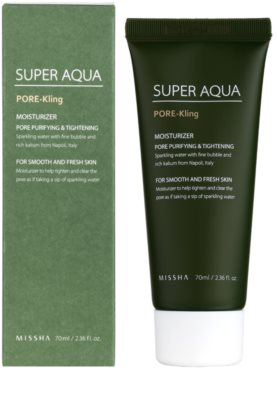 Missha Super Aqua Pore - Kling feuchtigkeitsspendende Emulsion für das Gesicht vergrößerte Poren 1
