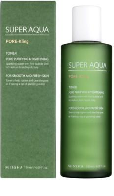 Missha Super Aqua Pore - Kling tonik do twarzy na rozszerzone pory 1