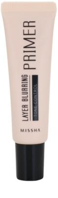 Missha Layer Blurring base de maquilhagem para unificar a cor do tom de pele