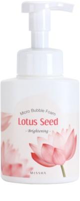 Missha Lotus Seed spuma stralucitoare de curatare cu microbule