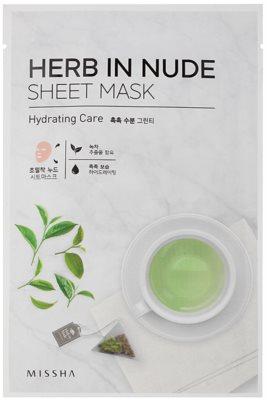 Missha Herb in Nude máscara em folha com efeito hidratante