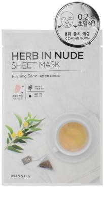 Missha Herb in Nude Zellschichtmaske mit festigender Wirkung