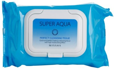 Missha Super Aqua Perfect čisticí ubrousky s hydratačním účinkem