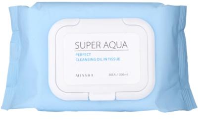 Missha Super Aqua Perfect Servetele pentru curatare cu uleiuri vegetale