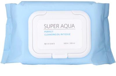 Missha Super Aqua Perfect toallitas limpiadoras con aceites vegetales