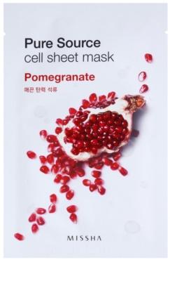 Missha Pure Source Zellschichtmaske mit festigender Wirkung