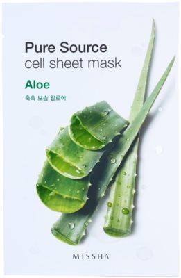 Missha Pure Source Zellschichtmaske mit feuchtigkeitsspendender und glättender Wirkung