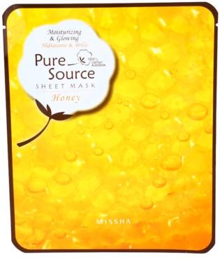 Missha Pure Source hidratáló maszk mézzel
