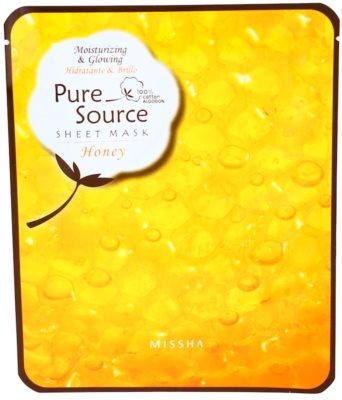 Missha Pure Source mascarilla hidratante con miel