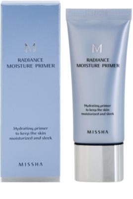 Missha M Radiance Moisture sminkalap a make-up alá hidratáló hatással 1
