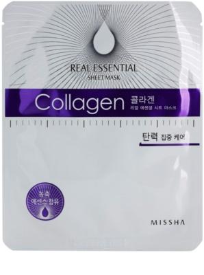 Missha Real Essential masca de colagen pentru fermitatea pielii
