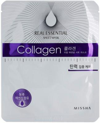 Missha Real Essential máscara de colagénio para refirmação de pele