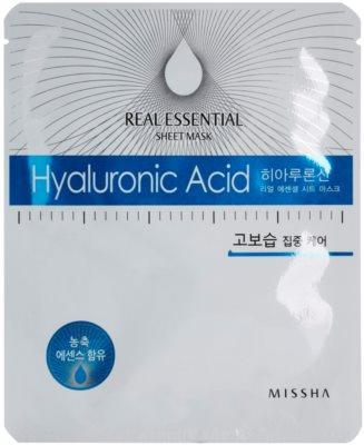 Missha Real Essential maseczka do twarzy z kwasem hialuronowym