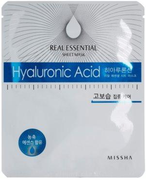 Missha Real Essential pleťová maska s kyselinou hyaluronovou