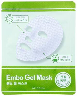 Missha Relaxing Bomb gel máscara calmante