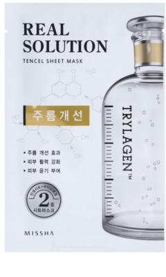 Missha Real Solution máscara em folha com efeito antirrugas