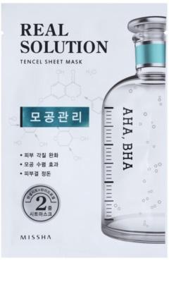 Missha Real Solution maska iz platna za zmanjšanje por