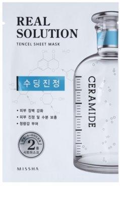 Missha Real Solution платнена маска с успокояващ ефект
