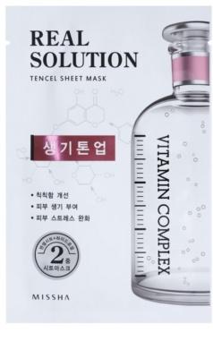 Missha Real Solution máscara em folha com efeito iluminador