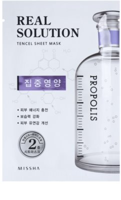 Missha Real Solution máscara em folha com efeito revitalizante