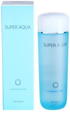 Missha Super Aqua tonik za obraz z vlažilnim učinkom 1