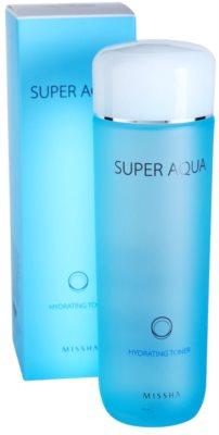 Missha Super Aqua tonik za obraz z vlažilnim učinkom 2