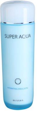 Missha Super Aqua emulsão hidratante para pele fina e lisa