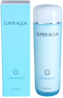 Missha Super Aqua emulsja nawilżająca do skóry delikatnej i gładkiej 1
