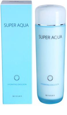 Missha Super Aqua vlažilna emulzija za nežno in gladko kožo 1