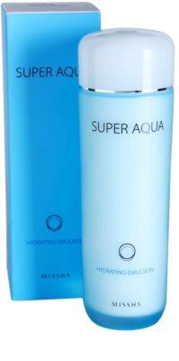 Missha Super Aqua emulsja nawilżająca do skóry delikatnej i gładkiej 2