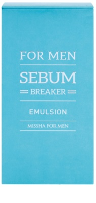 Missha For Men Sebum Breaker bőr emulzió zsíros bőrre 2