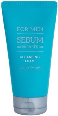 Missha For Men Sebum Breaker Espuma esfoliante e de limpeza para pele oleosa