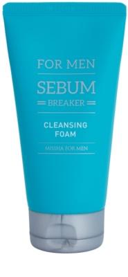 Missha For Men Sebum Breaker espuma exfoliante limpiadora  para pieles grasas