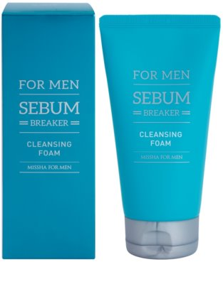 Missha For Men Sebum Breaker reinigender Peeling-Schaum für fettige Haut 1