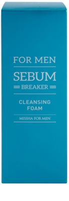 Missha For Men Sebum Breaker reinigender Peeling-Schaum für fettige Haut 2