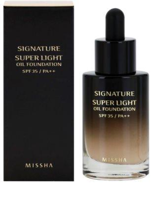 Missha Signature olejový tekutý make-up SPF 35 1