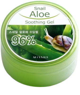Missha Snail Aloe Gel calmant si hidratant cu aloe vera extract de melc
